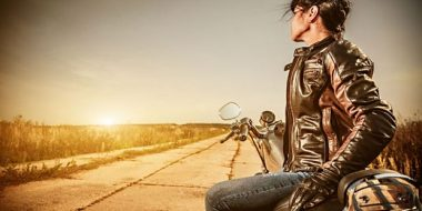 woman - motorcycle - highway
