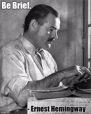 Ernest Hemingway typing