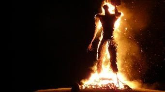 Burning Wicker Man - Lughnasadh - Celtic Quarter Days