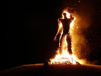 Image result for burning wickerman